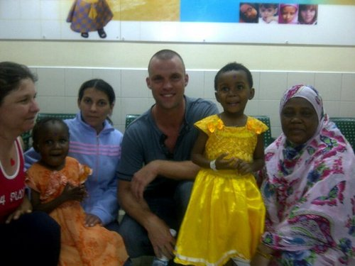 Jesse Spencer pays a visit to the Wolfson Medical Center in Holon, Israel.