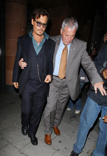 Johnny Depp images Johnny Depp Leaving Cipriani restaurant - May 12 , 2011 wallpaper and background photos