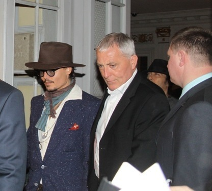Johnny Depp in a restaurant - Moscow, Russia (May 2011)