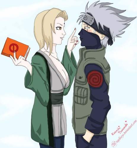 Naruto wallpaper containing anime entitled Kakashi Tsunade