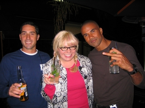 Shemar Moore wallpaper probably with alcohol, a vodka, and a wine bar entitled Kirsten & Shemar