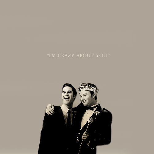 """I'm crazy about you."""