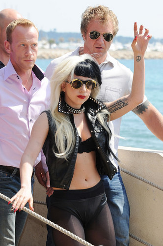 Lady Gaga at the Canal+ Studios - 64th Annual Cannes Film Festival