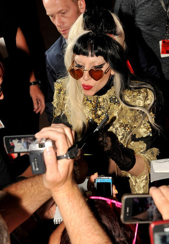 Lady Gaga performs in Cannes