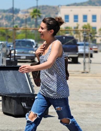 Lea heading to sound studio in LA