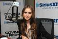 Lily Collins Visits Sirius XM Radio