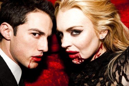 Michael Trevino and Lindsay Lohan - Tyler Shields