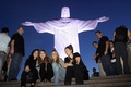 Miley - Visiting Cristo Redentor Statue in Rio de Janeiro, Brazil (11th May 2011)