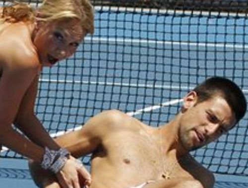 Naked djokovic with funny girl