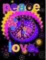 Peace & Love - purple photo