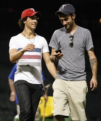 Rob Hoffman and Joe Jonas