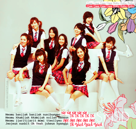 girls generation gee lyrics english. girls generation gee lyrics