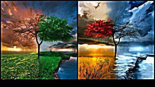 Seasons kertas dinding
