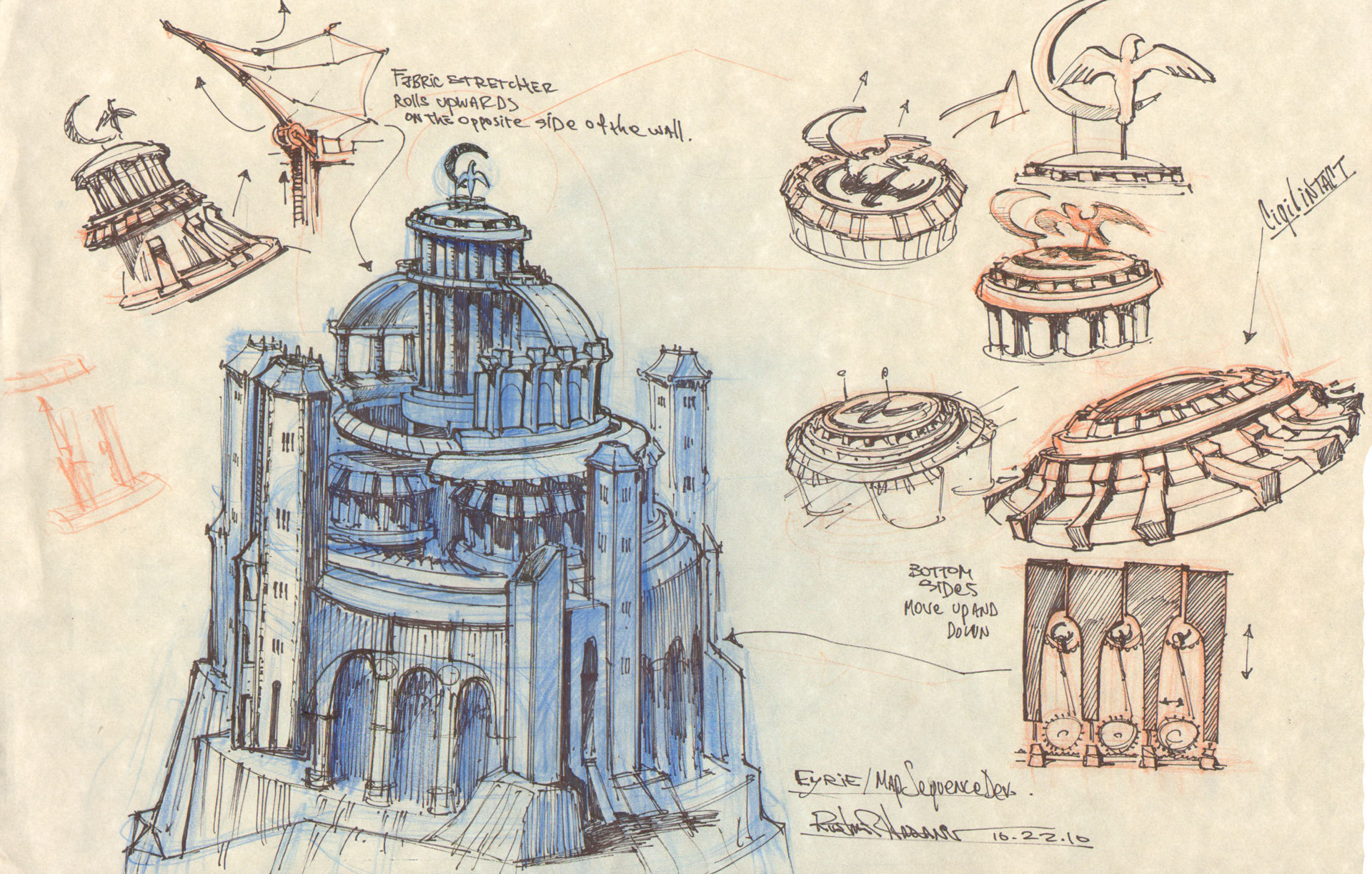 The Eyrie sketches