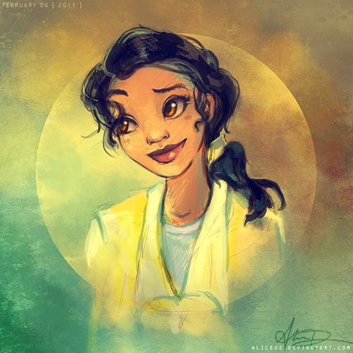 The Princess and the Frog wallpaper probably containing a portrait and anime titled Tiana