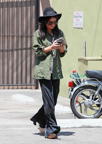 Vanessa Hudgens Leaving Vivian's Cafe