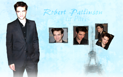 Robert Pattinson wallpaper containing a business suit entitled Wallpaper Rob in Paris