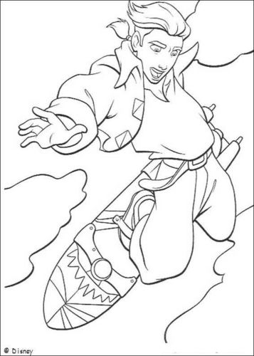 Walt 디즈니 Coloring Pages - Jim Hawkins