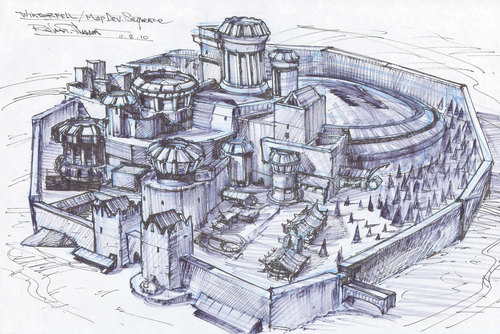 Winterfell sketch - game-of-thrones Photo