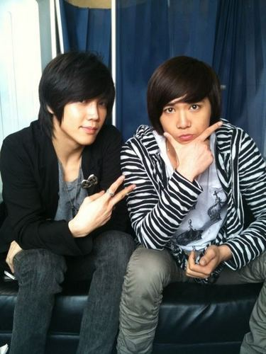 Won Bin and Hong Ki