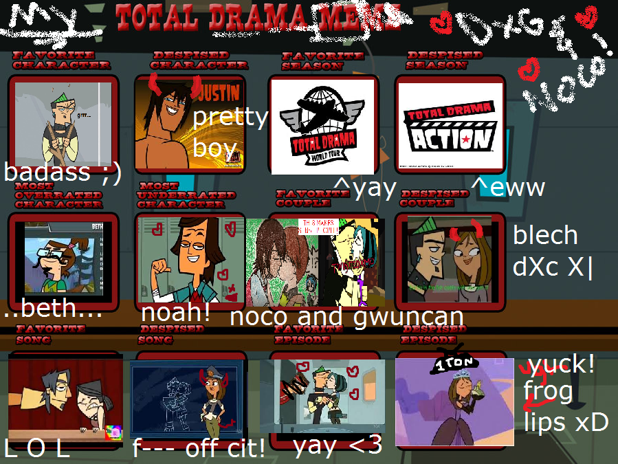 XD MY TOTAL DRAMA MEME!!!!!!!!!