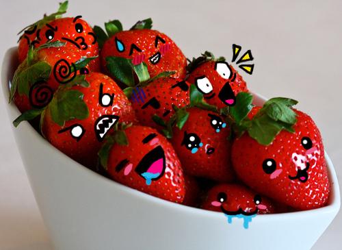 Anime strawberries