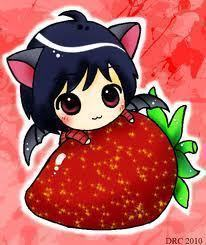Аниме strawberries!!!