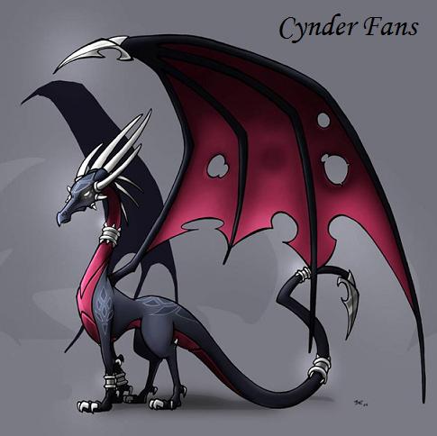 Cynder the Dragon Hintergrund titled big cinder