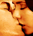 damon and elena kiss