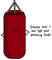 has someone else punching bag