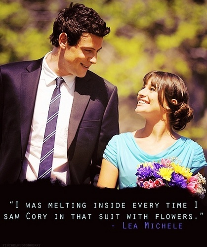 """""""I was melting inside every time I saw Cory in that suit with flowers."""""""