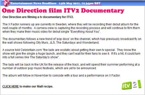 1D = Heartthrobs (Enternal Love) 1D Film ITV2 Documentary!! 爱情 1D Soo Much! 100% Real ♥