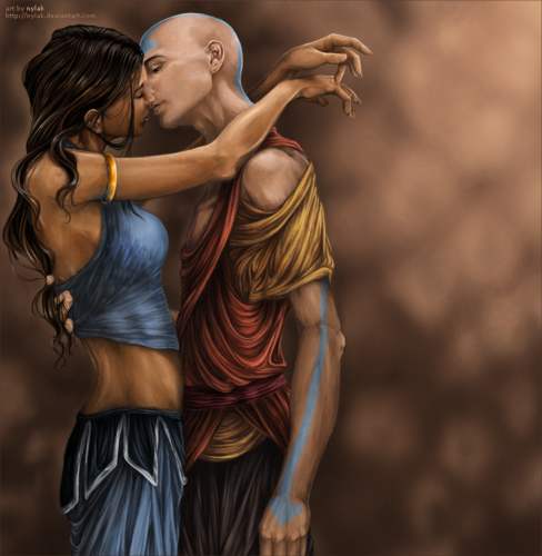 Aang and Katara - zutara-vs-kataang Fan Art