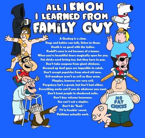 Family Guy Wallpapers: Family Guy Images All I Know I Learned From Family Guy HD