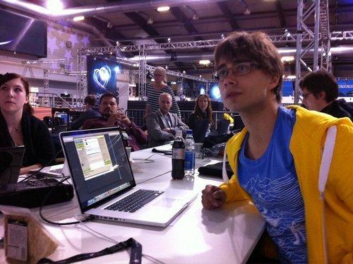 Alex watching the ESC Final !