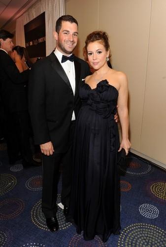 Alyssa Milano and David Bugliari at the White House Correspondents dîner ||