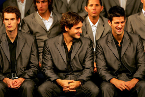 Andy, Roger & Novak (I 1der Were Nadal Cud B?) cinta Everyfing Bout The Serbernator 100% Real ♥