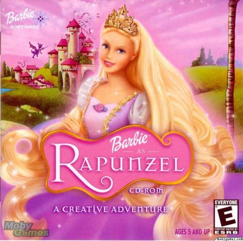 বার্বি as Rapunzel - The full view for Rapunzel's hair
