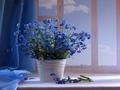 daydreaming - Blue Flowers wallpaper