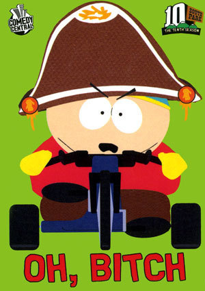 Cartman dressed up as Fatbeard.