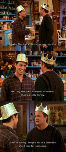 Chandler's bachelor party