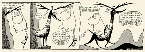 Comic strips of Moomins