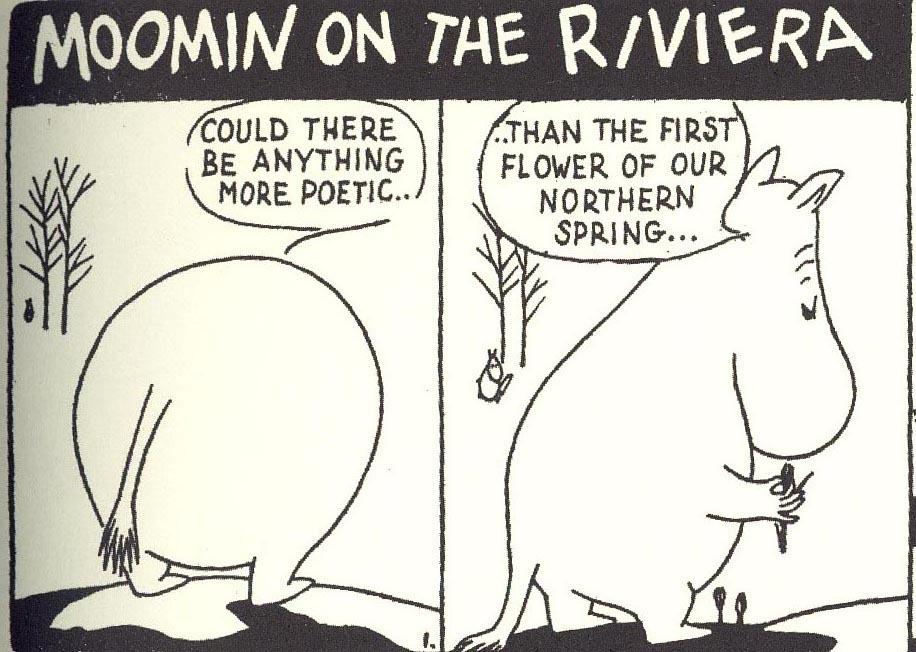 Comic strips of Moomins