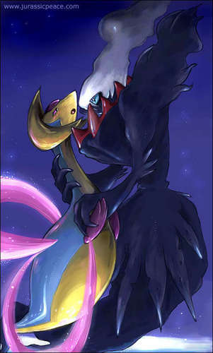 Cresseliain and Darkrai