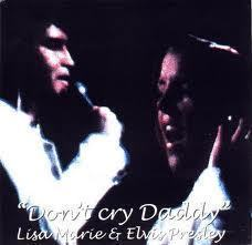 Elvis Aaron Presley and Lisa Marie Presley wallpaper probably with a portrait called Don't cry daddy