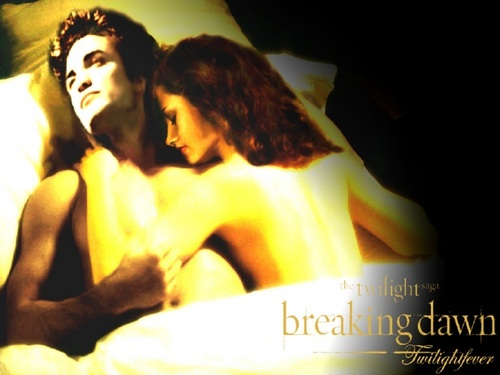Edward Cullen wallpaper probably containing skin entitled Edward & Bella