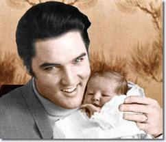 Elvis Aaron e Lisa Marie Presley wallpaper containing a portrait titled Elvis and Lisa