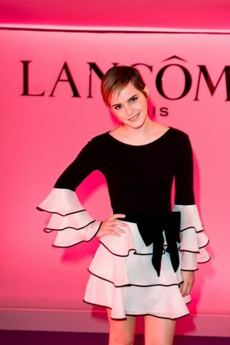 Emma Watson Tresor Midnight Rose launch