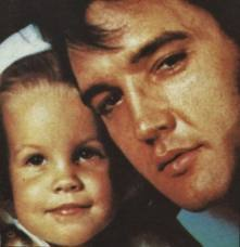 Elvis Aaron Presley and Lisa Marie Presley wallpaper with a portrait titled Faces