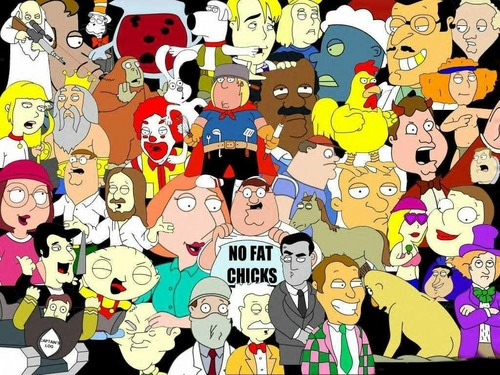 Family Guy- every character from all episodes.